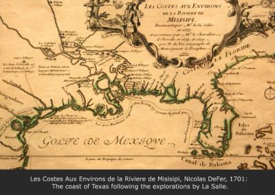 Les Costes Aux Environs de la Riviere de Misisipi, Nicolas DeFer, 1701