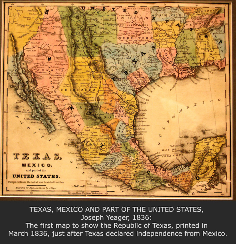 texas mexico and part of the united states joseph yeager 1836
