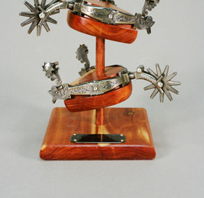 Buckaroo Style Spurs with High Relief Engraving by H.M. Wells