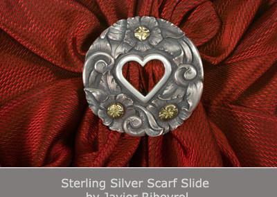 Sterling Silver Scarf Slide by Javier Ribeyrol