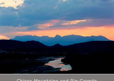 Chisos Mountains and Rio Grande by Jim Bones