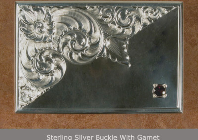 Sterling Silver Buckle with Garnet by Benoit Poulain