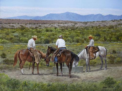 Image of painting, Water Break, by Herman Walker