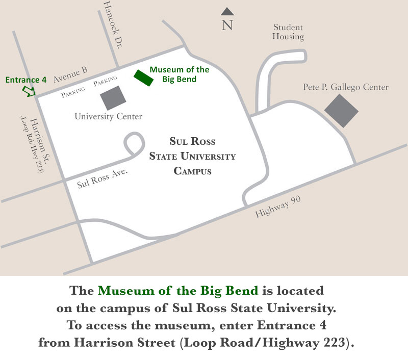 Museum / Sul Ross Campus Map