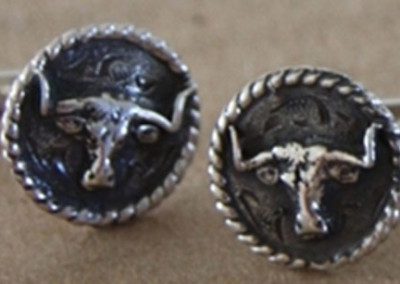 Longhorn Cufflinks by Rick McCumber