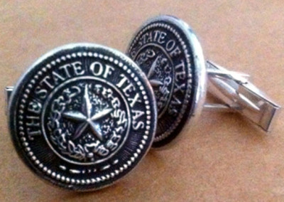 Texas State Seal Cufflinks by Rick McCumbe