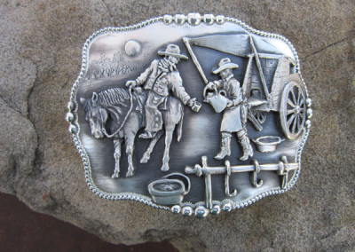 Just One More Trophy Style Buckle by Wayne Franklin