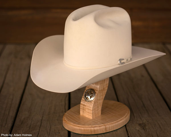 100% Pure Beaver Hat in Bone Color by Jim Spradley