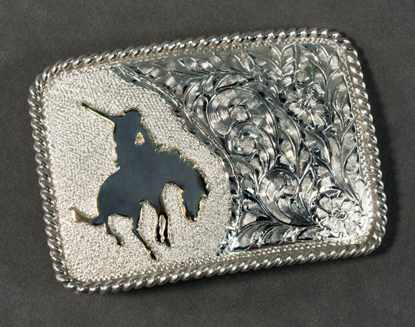 Bucking Horse Buckle by Buddy Knight