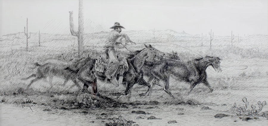 Cy Remington and the Tortalita Mustangs by Mike Capron