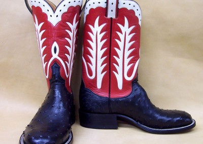 Black full quill ostrich boots by Mike Vaughn