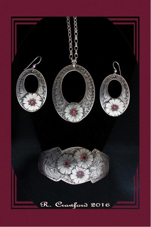 Wild Daisy Necklace, Earrings and Bracelet by Rex Crawford