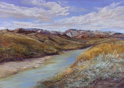 Snowy Peaks on the Rio Grande by Lindy Cook Severns