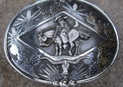 SOLD Midnight Breeze Trophy Style Buckle by Wayne Franklin