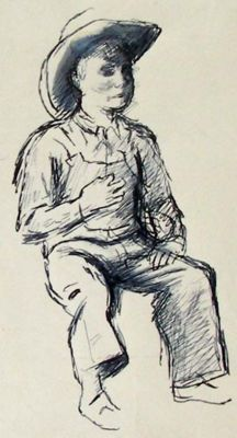 The Little Ranch Hand by Boardman Robinson