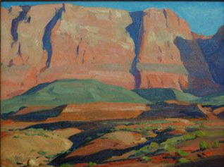 Navajo Cliffs by G. Russell Case