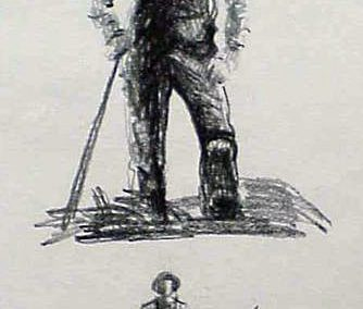 Farmer Icon Sketch by Gary Ernest Smith