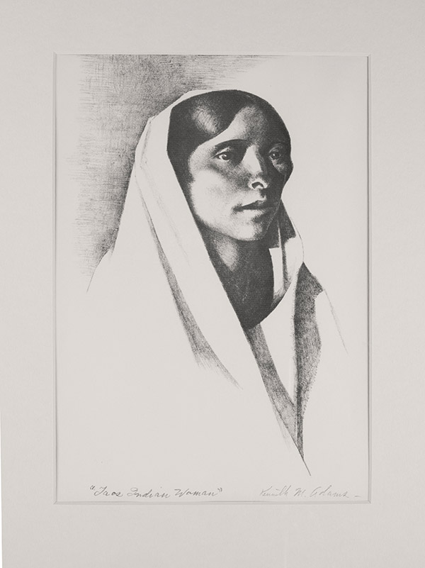 Taos Indian Woman by Kenneth Miller Adams