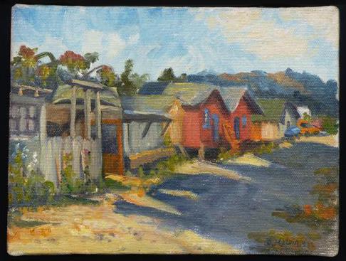 Sausalito Shacks by Patricia Melvin