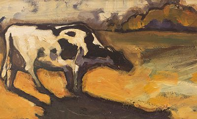 Solitary Cow by Peggy Judy