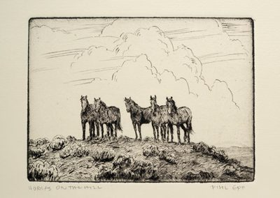 Horses on the Hill by Phil Epp