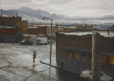 Rain View for the Hotel, Butte, MT by Taylor Lynde