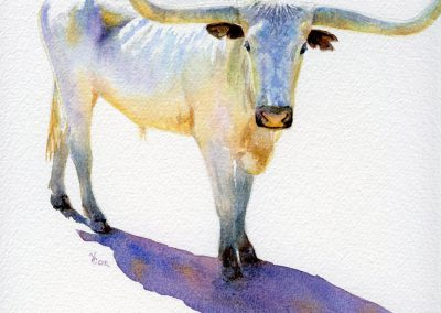 Little Lone Star Steer by Valerie Coe – SOLD