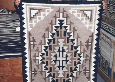 Toadlena/Two Grey Hills-Style Rug by Rose Barber – SOLD