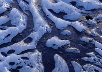 Volcanic Ash on Matanuska Glacier, Chugach Mountains, Alaska