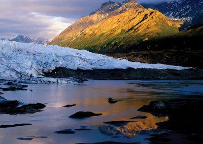 Volcanic Ash Layers in Matanuska Glacier, Lake and River, Chugach Mountains, Alaska
