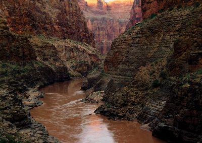 Sunset Narrows, Colorado River, Grand Canyon, Arizona