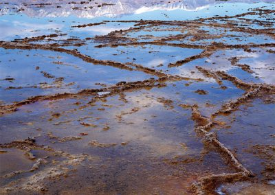 Salt Pans, Bad Water Lake, Panamint Mountains, Death Valley, California