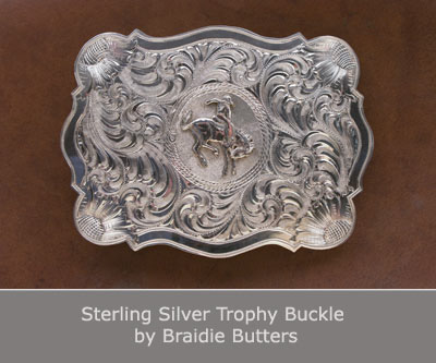 Sterling Silver Trophy Buckle by Braidie Butters