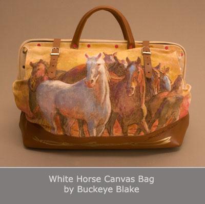 White Horse Canvas Bag by Buckeye Blake