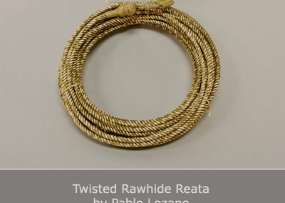 Twisted Rawhide Reata by Pablo Lozano