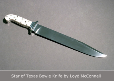 Star of Texas Bowie Knife by Loyd McConnell