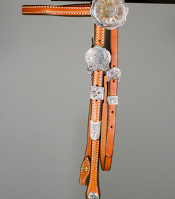 Sun, Moon and Stars Headstall by Tom Paul Schneider