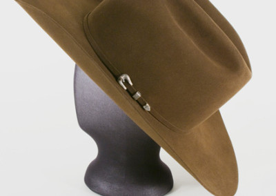 100% Beaver Deluxe Hat by Jim Spradley & Buckle Set by Clint Orms