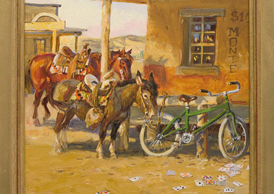 A Mixed Crowd at the Alamo by Dave Powell