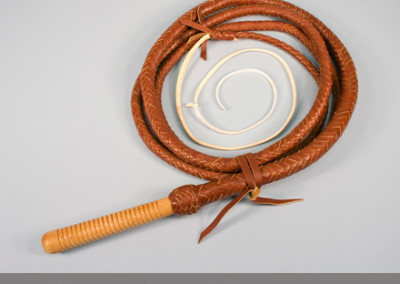 Kangaroo Hide Bull Whip by Krist King