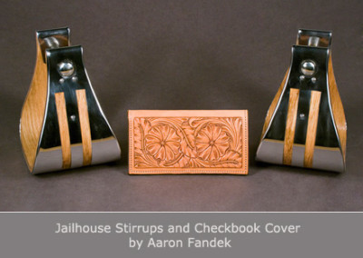 Jailhouse Stirrups and Checkbook Cover by Aaron Fandek