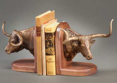 Longhorn Book Ends by Rick McCumber