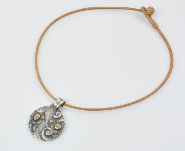 Pendant and Rawhide Necklace by Javier Ribeyrol