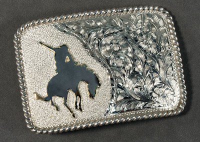 Bucking Horse Buckle by Buddy Knight