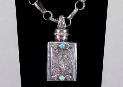 SOLD Perfume Bottle Pendant by Laddan Ledbetter