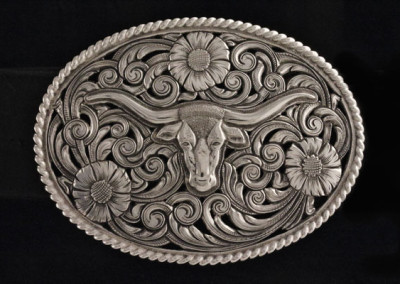 Longhorn Buckle by Scott Hardy