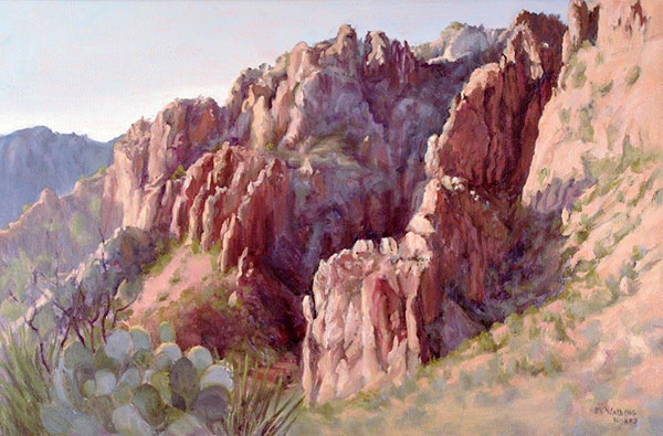 Sunset Light from the Window / Chisos Basin, Big Bend National Park by K.K. Walling