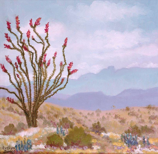 Chisos Mountains View by Evelyn James