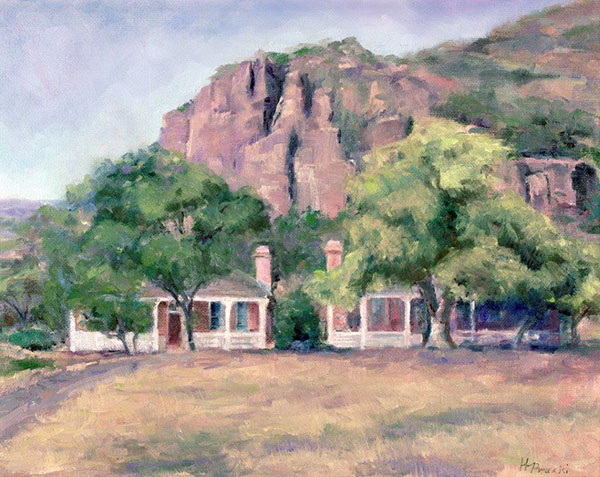 Afternoon Sun Officers Quarters by Helen Pruski