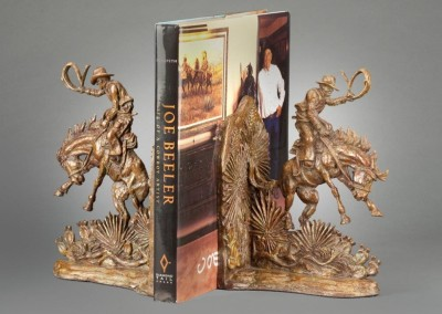 Vintage Bronc Rider Bookends by Rick McCumber